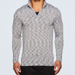 Men's Quarter Zip Fitted Long Sleeve